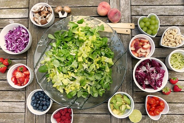 Eating healthy foods to become healthy and happy